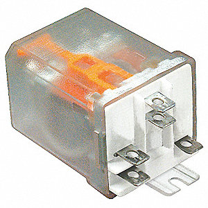 "240VAC, 5-Pin Side Flange Enclosed Power Relay; Electrical Connection: 1/4"" Tab Terminal"