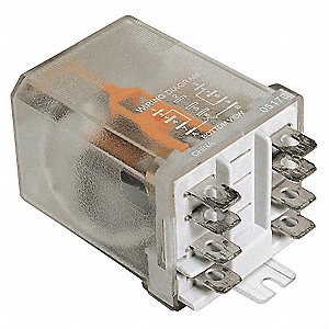 Enclosed Power Relay,8 Pin,24VAC,DPDT