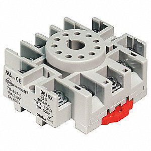 Relay Socket, Socket Type: Standard, Socket Style: Octal, Number of Pins: 11