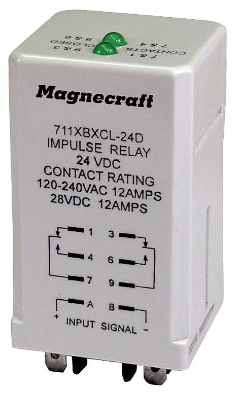 MAGNECRAFT Alternating Relay 12 Amps 12VDC 8 Pins DPDT 6CVF0