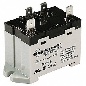 Enclosed Power Relay,4Pin,120VAC,SPST-NO