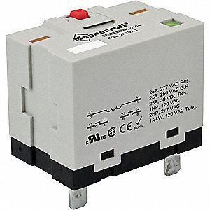 Enclosed Power Relay,6Pin,120VAC,DPST-NO