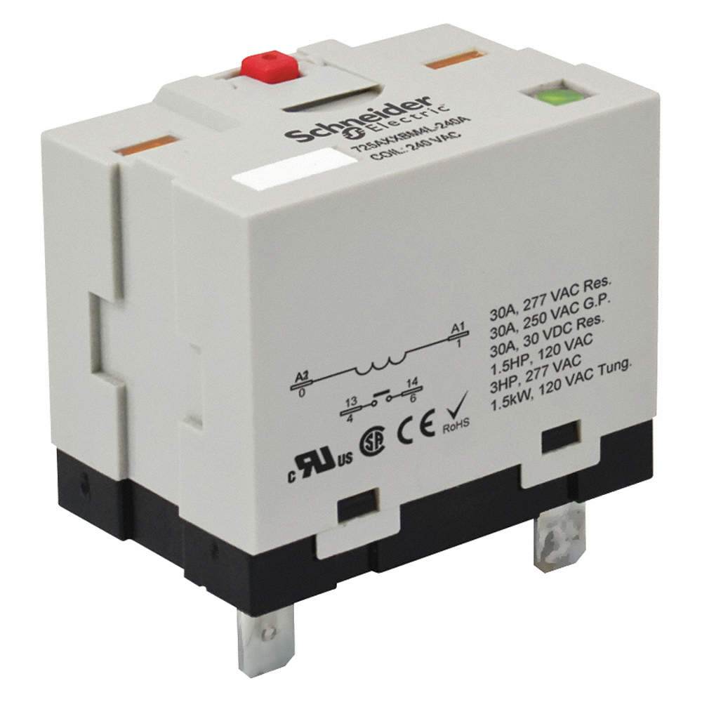 24VDC, 6-Pin Plug-In Socket Enclosed Power Relay