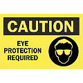 "Personal Protection, Caution, Polyester, 10"" x 14"", Not Retroreflective"