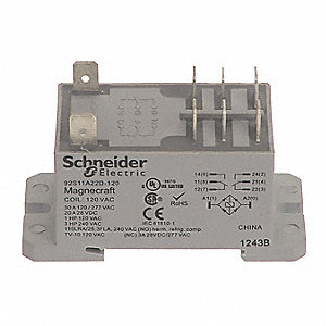 Enclosed Power Relay,8 Pin,120VAC,DPDT