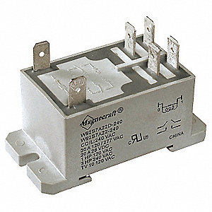 Enclosed Power Relay, 6 Pins, 12VDC Coil Volts, 30A @ 277VAC, 20A @ 28VDC Contact Amp Rating (Resist