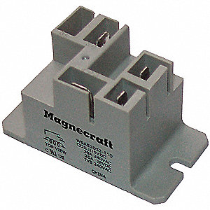 Enclosed Power Relay,5 Pin,240VAC,SPDT