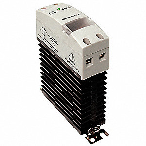 1-Pole DIN Rail/Flange Mount Solid State Relay; Max. Output Amps w/Heat Sink: 30