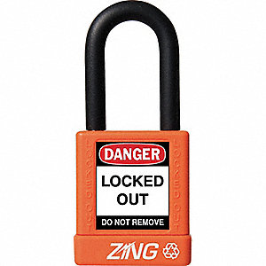 "Lockout Padlock,KD,Orange,1-3/4""H"