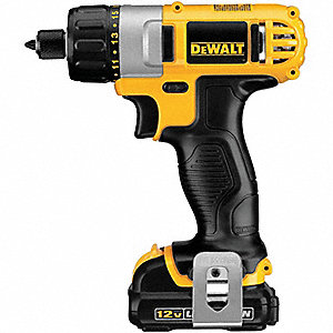 "1/4"" Hex Cordless Screwdriver Kit, 12.0 Voltage, Battery Included"