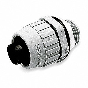 Nylon Insulated Connector, Connector Type: Straight, Conduit Size:  3/4""