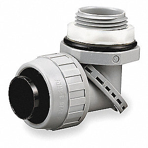 Nylon Insulated Connector, Connector Type: 90°, Conduit Size:  1""
