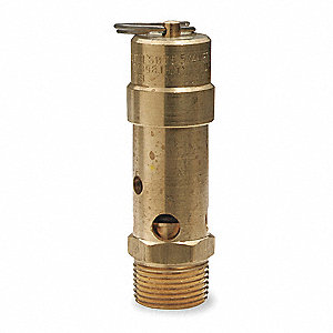 "Air Safety Valve,3/4"" Inlet, 125 psi"