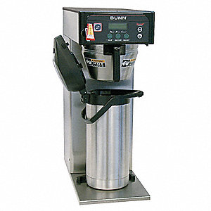 1.5 gal. Stainless Steel Single Coffee Brewer, Stainless Steel
