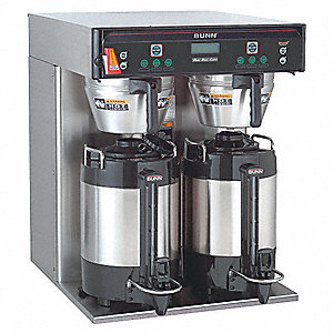 1.5 gal. Stainless Steel Dual Coffee Brewer, Stainless Steel