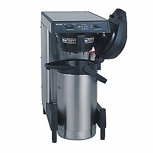 102 oz. Stainless Steel Low Profile Airpot Coffee Brewer with Adjustable Legs, Stainless Steel