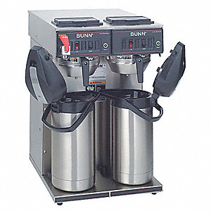 102 oz. Stainless Steel Dual Airpot Coffee Brewer, Stainless Steel