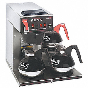 COFFEE BREWER,3 LOWER WARMERS