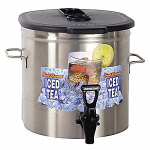 3.5 gal. Commercial Tea/Coffee Dispenser, Stainless Steel
