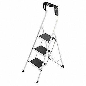 Household Step Stool,Steel,11-7/8 In. W