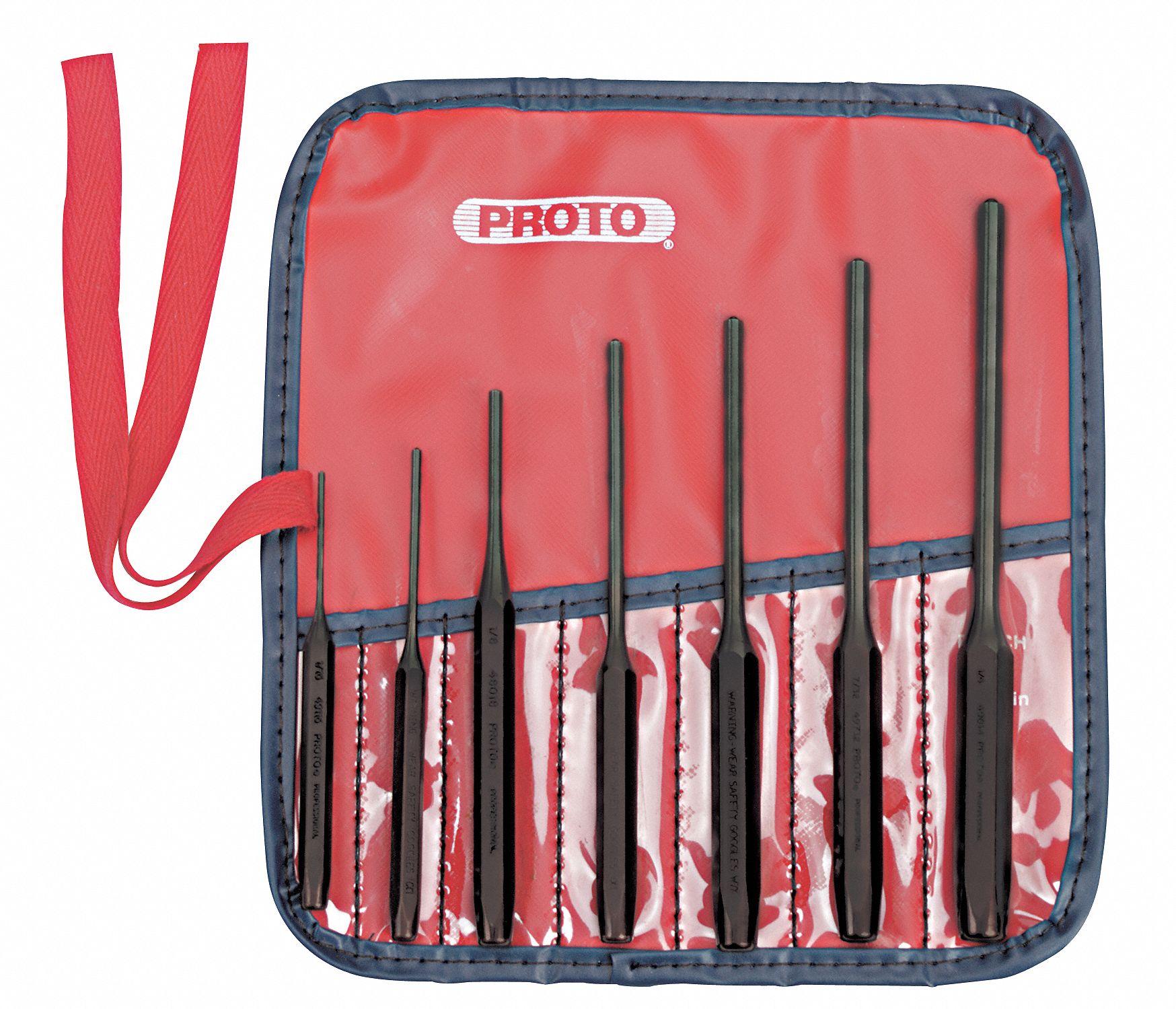 "Proto ® 3 Pièce Laiton Heavy-Duty Punch Set 3//4/""X12,7//16/""X14/"",3//8/""X10/"" J9633HB USA"
