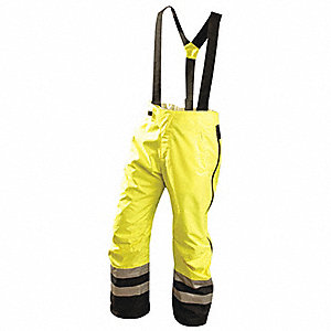 Hi-Vis Breathable Rain Pants,Yellow,2XL