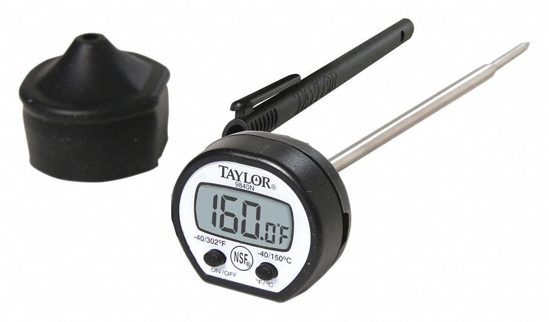 Item Digital Pocket Thermometer,  Temp. Range (F) -40 to 302°F,  Temp. Range (C) -40 to 150°C