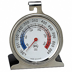 "3-1/8"" Analog Mechanical Food Service Thermometer with 100° to 600° Temp. Range (F)"