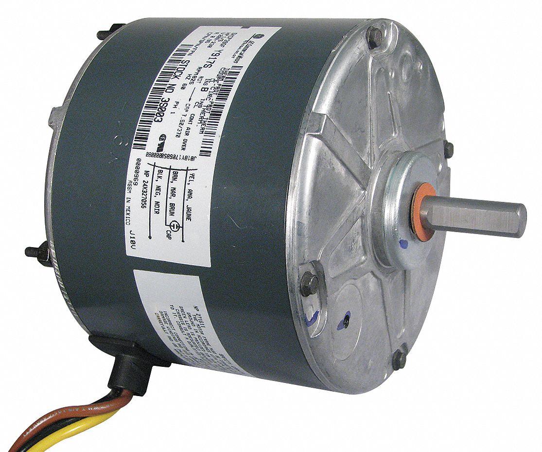 Genteq Permanent Split Capacitor Condenser Fan Motor 1 5 Hp 0 1000 Blower Wiring Diagram Rpm Range 208 230v Ccwse 6dll2 3s003 Grainger
