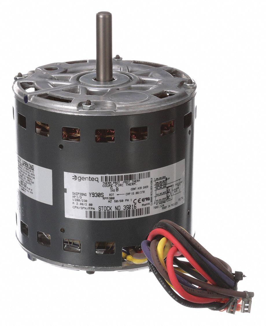 GENTEQ Direct Drive Blower Motor, 1/3 HP, OEM Replacement Brand Rheem/Ruud  - 6DLP0|3S016 - GraingerGrainger