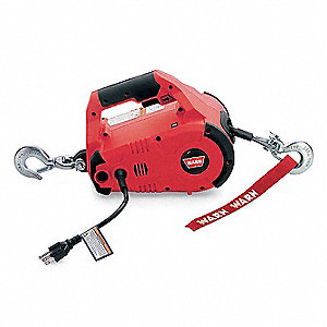 115VAC Lifting, Pulling Portable Electric Winch with 8.0 fpm and 1000 lb. 1st Layer Load Capacity