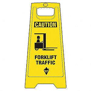 Flr Safety Sign,Caution Forklift Traffic