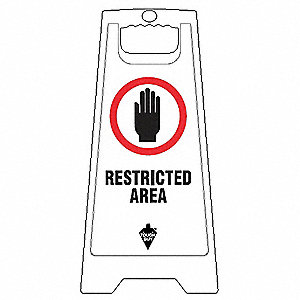 "Authorized Personnel and Restricted Access, Plastic x 12"", Free-Standing Floor"
