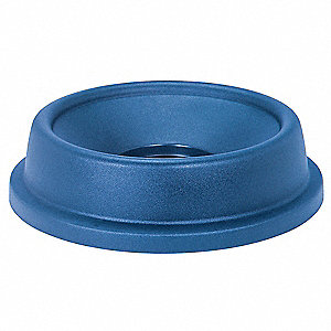 Funnel-Type Trash Can Top for 44 gal. Container, Blue