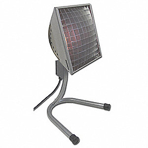 Electric Infrared Heater, Indoor/Outdoor, Floor Stand, Voltage 120, Watts 1500