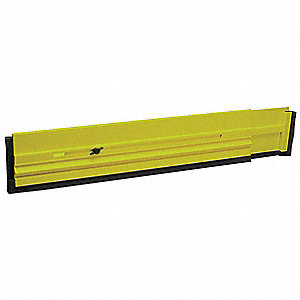 "36"" to 64"" x 4.5"" Plastic with Rubber Seal Expandable Floor Dam, Florescent Yellow/Green"