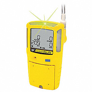 Multi-Gas Detector,2 Gas,-4 to 122F,LCD