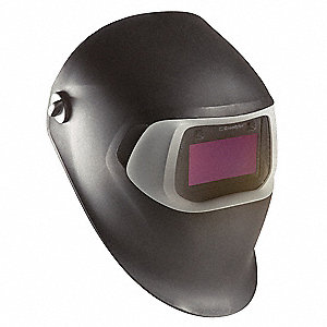 "100 Series, Auto-Darkening Welding Helmet, 8 to 12 Lens Shade, 3.66"" x 1.73"" Viewing AreaBlack"