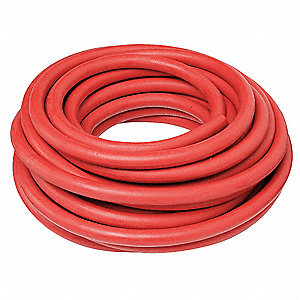 "50 Ft. Multi-Fiber Braids with Vinyl Nitrile Cover Hose with 1/2"" Inside Dia., Red"