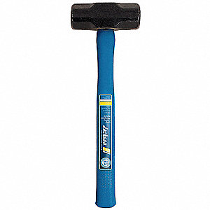 "Double Face Sledge Hammer, 4 lb. Head Weight, 1-3/4"" Head Width, 15"" Overall Length"