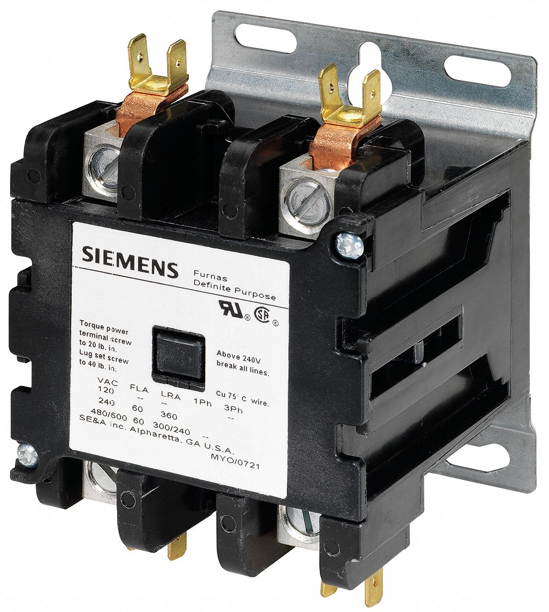 Square D Definite Purpose Contactor Wiring Diagram Another Blog Images Gallery Siemens 120vac No Of Poles 2 25 Full Load Amps Rh Grainger Com