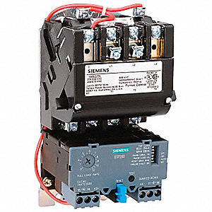 NEMA Magnetic Motor Starter, 120 to 240VAC Coil Volts, Overload Relay Amp Setting: 0.75 to 3.4A