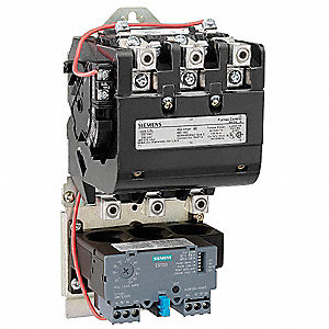 NEMA Magnetic Motor Starter, 120VAC Coil Volts, Overload Relay Amp Setting: 50 to 200A