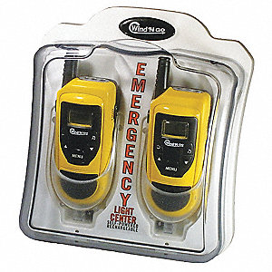 Emerg Light Ctr,2 Walkie-Talkies,Case