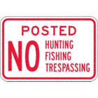 Posted No Hunting Fishing Trespassing Signs