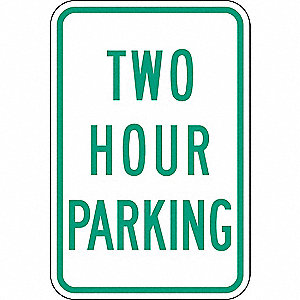 "Parking Sign,18""H,12""W,Aluminum"
