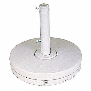 Umbrella Base Ring, White Resin/Cement, 35 lb., Base Dia. 20""