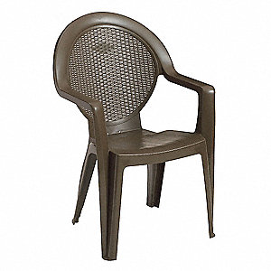 "20-1/2"" x 17"" x 35"" Resin Armchair with 300 lb. Weight Capacity, Bronze Mist&#x3b; Resistant To Discolora"