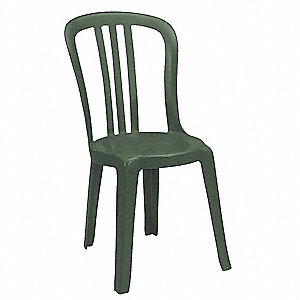 "17"" x 20"" x 35"" Resin Bistro Sidechair with 300 lb. Weight Capacity, Amazon Green&#x3b; Resistant To Disc"