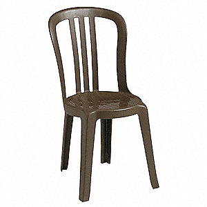 "17"" x 20"" x 35"" Resin Bistro Sidechair with 300 lb. Weight Capacity, Bronze Mist&#x3b; Resistant To Color"